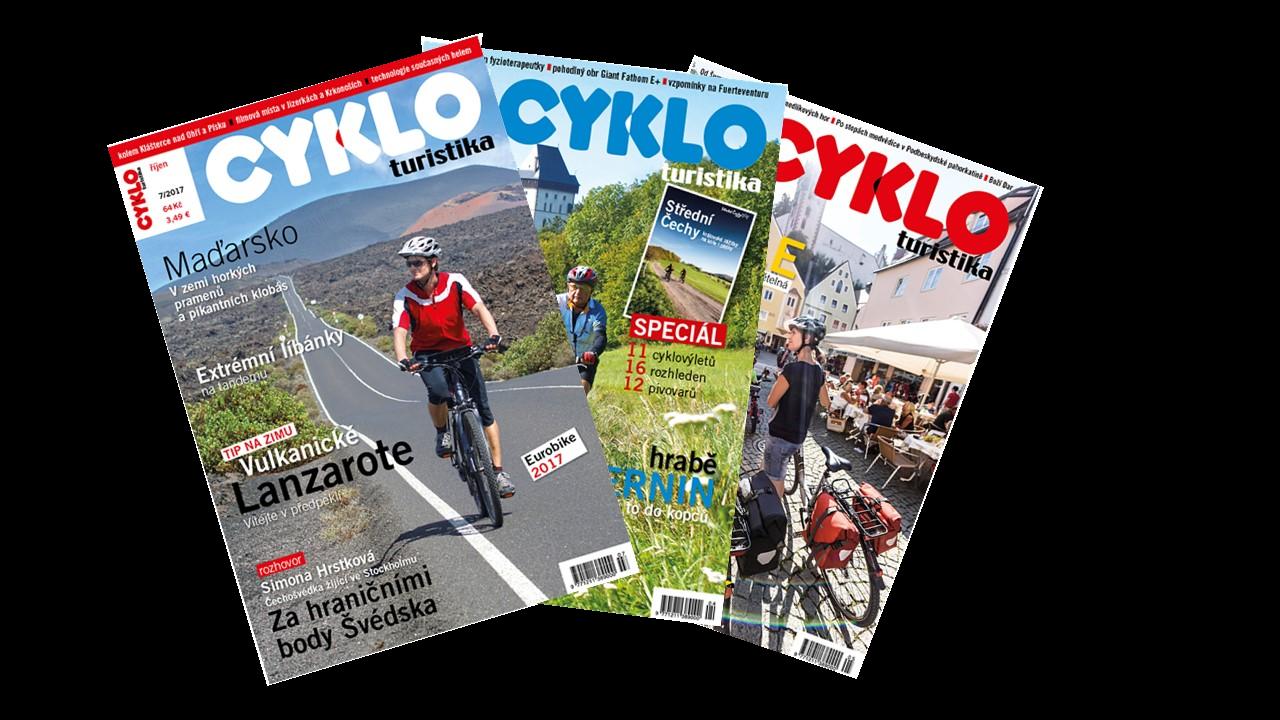 Předplatné tištěné verze časopisu Cykloturistika